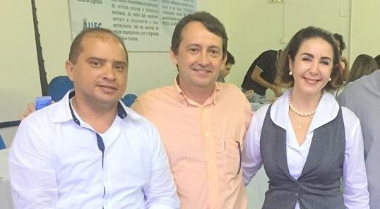 Foto - César Pontes, Prof. Almir Holanda e Profª. Nadja Montenegro