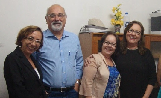 Margarida Souza, Prof. Eduardo Girão, Liduína Lopes e Profª. Márcia Machado