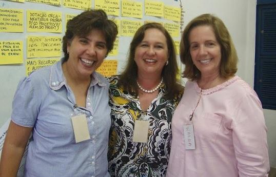 Profª. Andréa Aguiar, Profª. Márcia Machado e Profª. Walda Viana