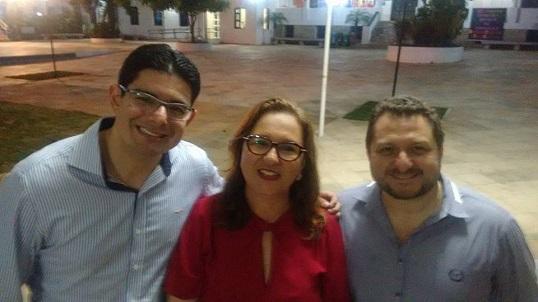 Prof. Abraão Saraiva Jr., Profª. Márcia Machado e Prof. Rogério Masih