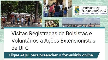 Figura - Formulário Online do Registro de VISITA de BOLSISTA à Ação Extensionista da UFC