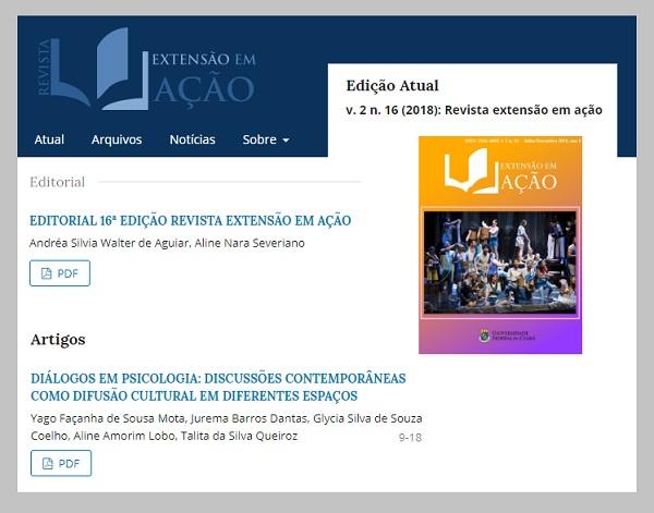 Revista Extensão em Ação em 30/07/2019