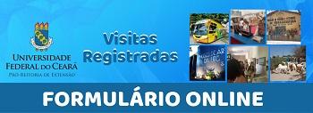 Imagem que, quando clicada, acessa o formulário online das Visitas Registradas