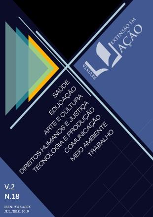 Ilustração da capa da 18ª edição da Revista Extensão em Ação
