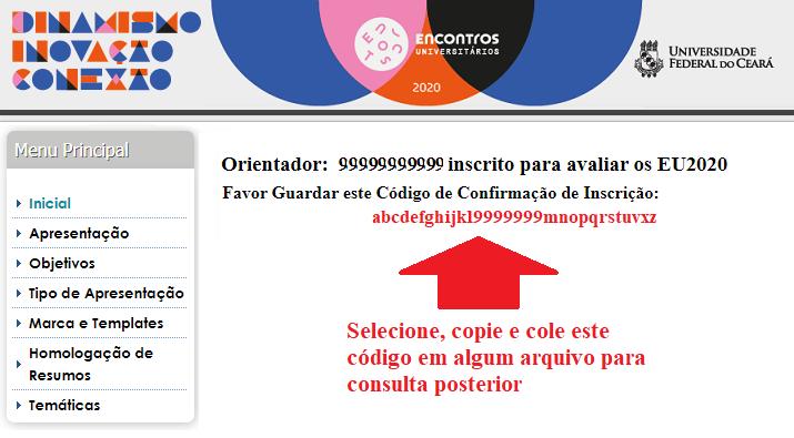 #PraCegoVer #PraTodosVerem - descrição: imagem da 4ª tela, a qual aparece em seguida à tela supra e que informa o código que deve ser gravado para consultas futuras.